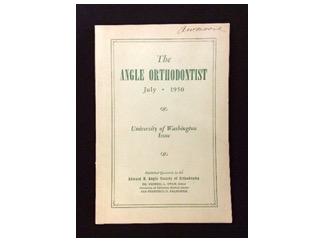The University of Washington Issue of the Angle Orthodontist